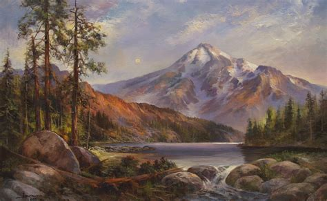 painting montana mount shasta paintings by stefan baumann