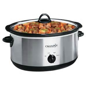 crock pot cooker settings crock pot 174 manual cooker in silver at crock pot