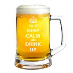 Beer Bottle Vase Keep Calm And Carry On Pint Glass Keepitpersonal Co Uk
