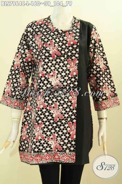 Blus Batik Kombinasi blus batik kombinasi kan polos baju batik motif unik