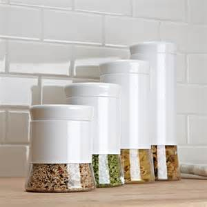 blue and white kitchen canisters choosing white kitchen canisters for your home the new way