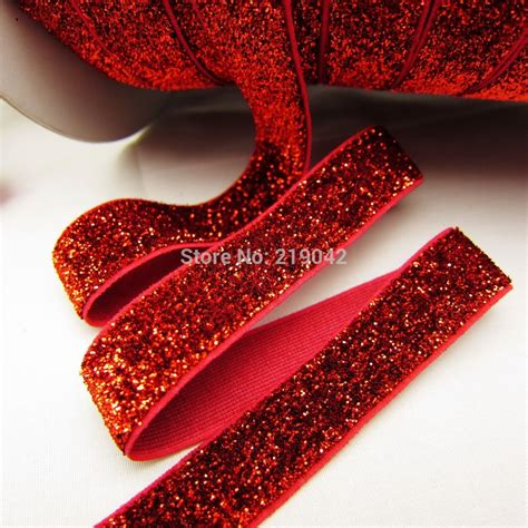 Handmade Jewelry Materials - md921123 free shipping 5 8 quot 16mm glitter elastic foe diy