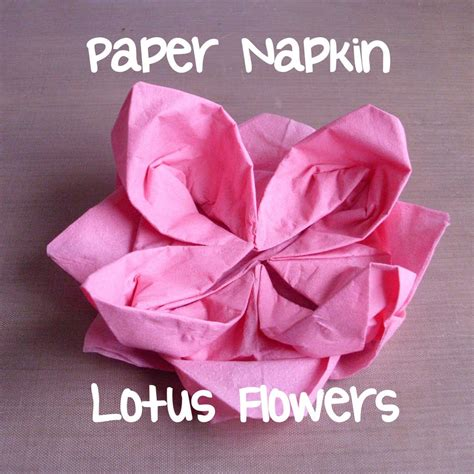 Paper Napkin Folding Flower - 10 best images of paper napkin flower lotus template how