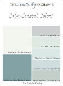 coastal paint colors calm coastal paint colors color palette monday
