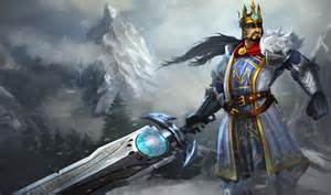league of legends wallpaper tryndamere the barbarian king