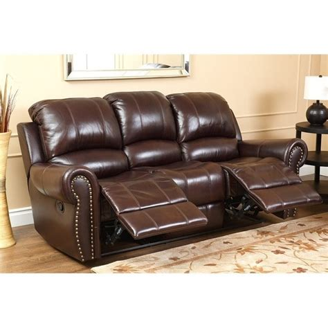 Abbyson Leather Sofa Abbyson Living Leather Reclining 2 Sofa Set Ch 8811 Brg 3 2