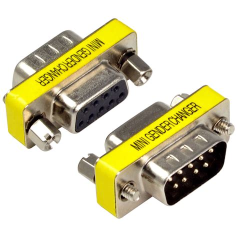 Gender Serial Konektor Db9 Connector 9 Pin 1 9 pin rs232 db9 pin to serial cable gender