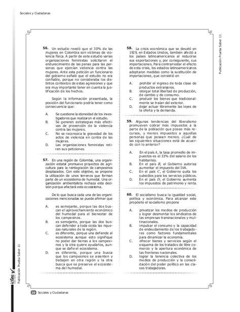preguntas y respuestas tipo icfes de sociales cuadernillo de entrenamiento icfes saber 11 2014