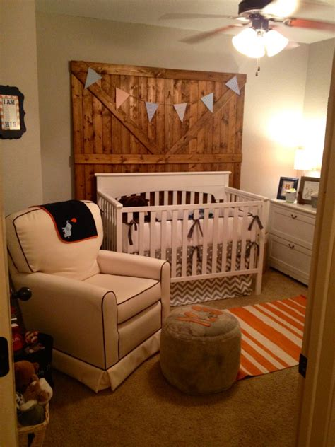 room decor baby boy rustic modern project nursery