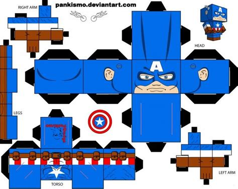 Best Paper Craft - 17 best images about papercraft cubbies captain america