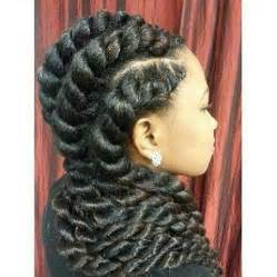 marley twist with a goddess braid style