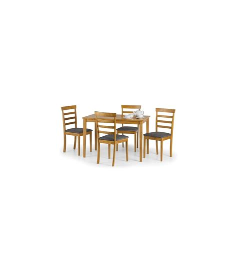 dining set light oak cleo dining set light oak table 4 chairs