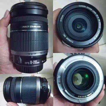 Lensa Canon Ef S 18 200mm F 3 5 5 6 Is jual beli lensa canon ef s 18 200 mm f 3 5 5 6 is