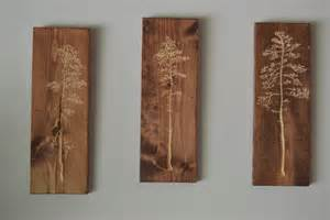 3 individual carved tree wood wall hanging