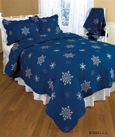 snowflake comforter snowflake embroidered quilted bedding navy quilts