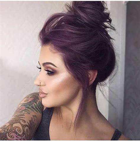 shag haircut brown hair with lavender grey streaks top 40 cabelos roxos dicas para pintar sozinha e fotos da