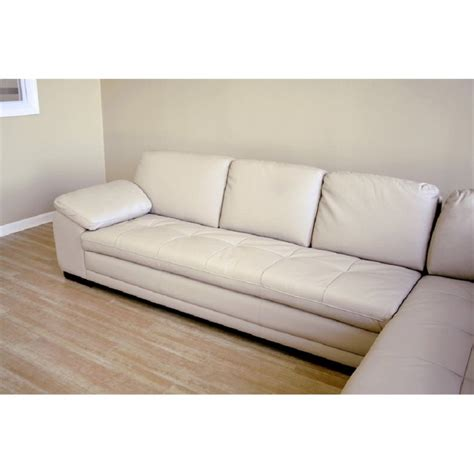 Beige Sectional Sofa Diana Leather Sectional Sofa In Beige 625 M9818 Sofa Lying