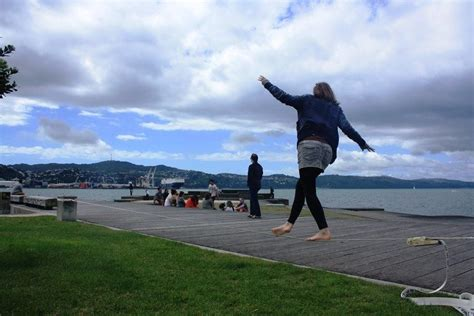 the boat cafe wellington see how to setup a slackline without trees at the boat