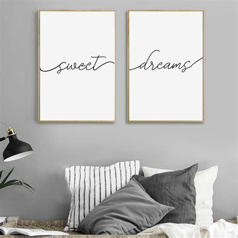 modern minimalist sweet dreams canvas painting nursery