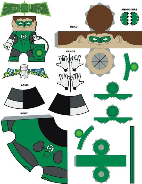 Origami Green Lantern Ring - 259 best green lantern printables images on