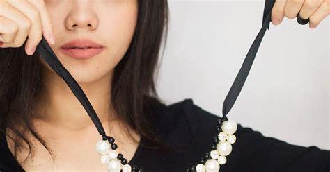 Kalung Fashion Choker Mutiara Hitam Simple Unik Rc778c my lovely a with fashion corner stylish necklace ideas
