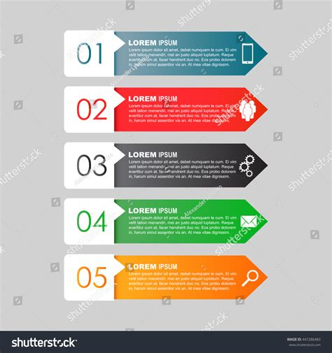 infographic templates for business vector illustration infographic templates business color flat vector stock