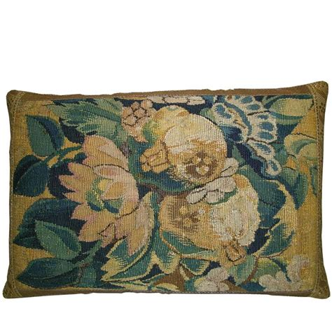 Antique Pillow by Antique Flemish Tapestry Pillow Circa 17th Century For