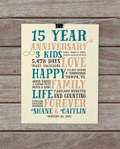15 year wedding anniversary ideas anniversary gifts 15 year anniversary present for him husband relationship