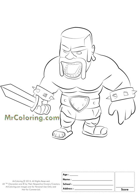 barbarian king coloring pages dragon clash royale barbarian king coloring page pictures