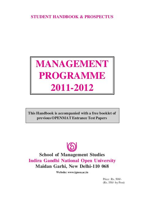 Mba Material by Ignou Mba Materials