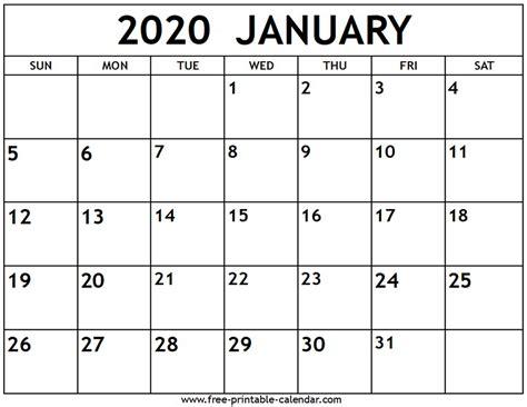 january  calendar  printable calendarcom