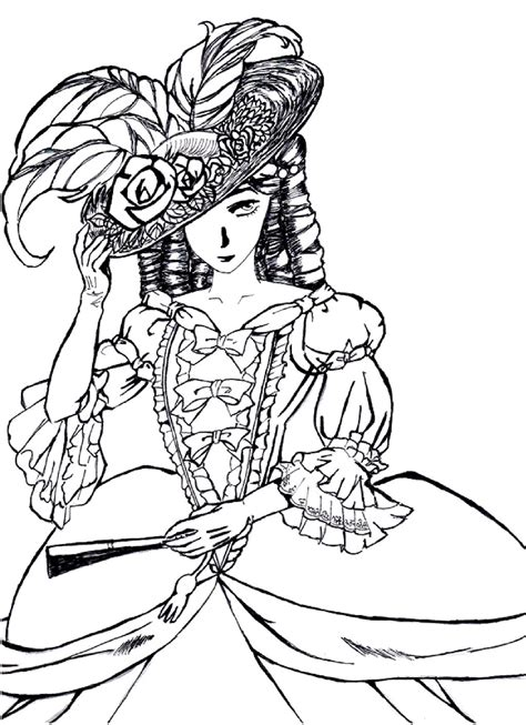 coloring pages for adults victorian victorian woman fashion dress hard coloring pages for
