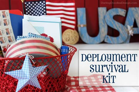 Gift Ideas For Soldiers - deployment survival kit gift idea doodles