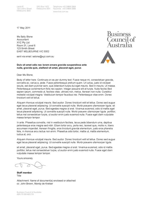 us business letter exle business letter exle middle school exle of business