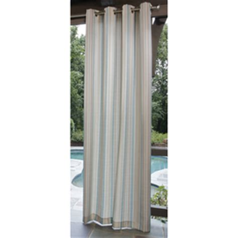 lowes outdoor drapes shop allen roth 96 quot aqua cream outdoor curtain panel at