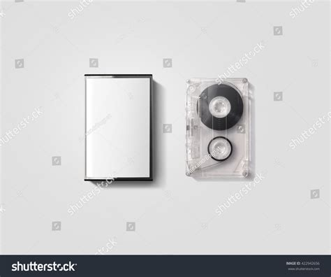 cassette template blank cassette box design mockup stock photo