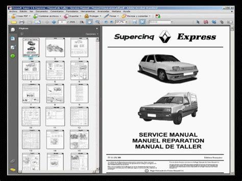 Renault Super 5 Y Express Manual De Taller Service
