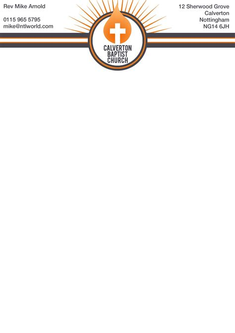 church letterhead template nate welfare fmp design practice church letterheads