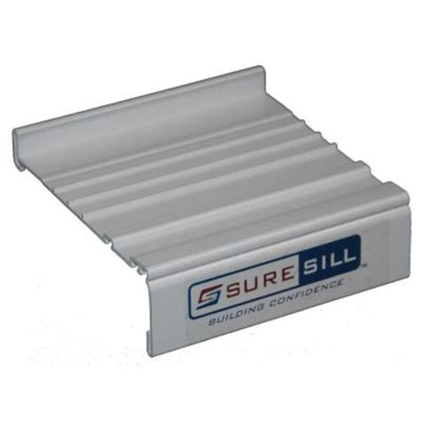 Exterior Door Sill Extension Suresill 4 1 8 In White Sloped Sill Pan Extension Coupling Ss 4 19s Exc The Home Depot