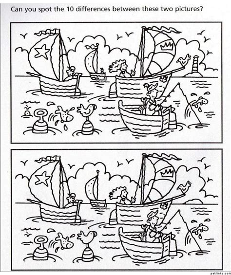 Finding On The Best Find The Difference Images On 99 Printable Coloring Page