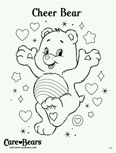 cheer bear coloring pages 73 best images about care bear cheer bear 4 on pinterest