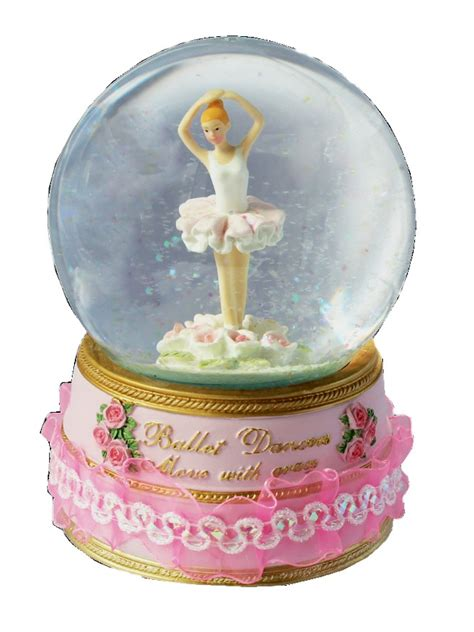 musical glitter globes from the music box shop