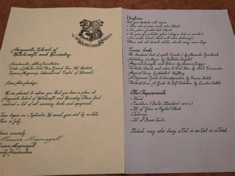 Hogwarts Acceptance Letter Cookie real hogwarts acceptance letter www pixshark