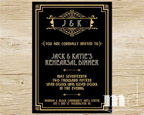 great gatsby themed party invitations cimvitation
