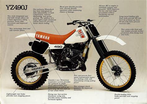 european motocross bikes 1982 yamaha yz490 european model vintage brochures