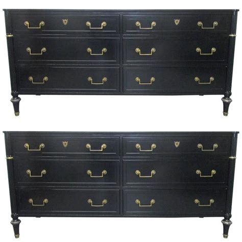 6 Drawer Dressers For Sale by Pair Of Matching Baker Six Drawer Dressers For Sale At 1stdibs