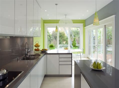 Accent Wall In Kitchen by Bright Green Accent Wall Kitchen Home Glam