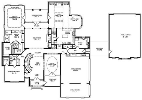 House Plans With 5 Bedrooms 654274 Traditional 5 Bedroom 4 5 Bath House Plan