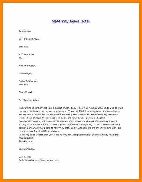 leave application letter format in pdf 10 maternity leave requesting letter new wood