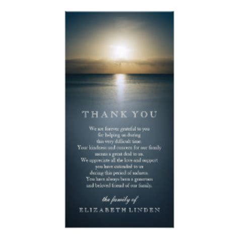 sympathy thank you card template sympathy photo cards zazzle co uk